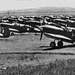 Kittyhawks & Spitfires awaiting disposal