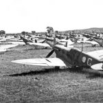Spitfires were lined up as far as the eye could see